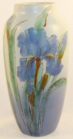 Weller Pottery Hudson Iris Vase (Pillsbury) from Just Art Pottery