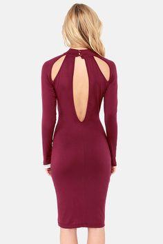 Teardrop It Like It's Hot Burgundy Midi Dress at LuLus.com!