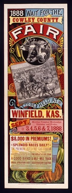 vintage fair poster - inspiration for invites or save the dates