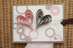 Wedding card Stampin´ Up --- cute idea but I wonder how long this would take??