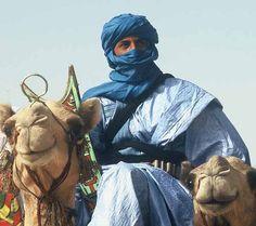 Tuareg in blue (Saharan Arts)