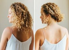 casual curly updo