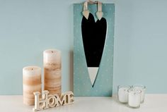 Blue Long Heart Mirror perfect for any bedroom. Priced £14.99