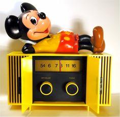 Mickey mouse transistor radio