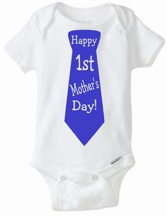 First Mother's day baby shirt,Mother's day gift,baby shirt for new mother,boy bodysuit,girl bodysuit, Happy First Mother's day,shower gift by ElainesCrafts on Etsy