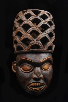 Mask of a dignitary, Cameroon Grassfields, Bamileke