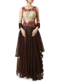 Maxi Style Anarkali Dresses Collection 2016-2017 | StylesGap.com