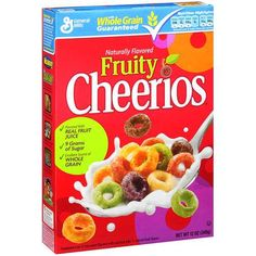 Cheerios Cereal Fruity 12 oz 2 pk -- Click image for more details. (This is an affiliate link) Cheerios Cereal, Oat Cereal, Breakfast Cereal, Cereal For Diabetics, Gluten Free Breakfasts, Cereal Recipes, Dessert Drinks