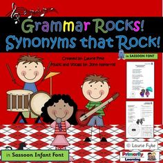 Have fun learning about grammar as you sing along with this Synonym Song…