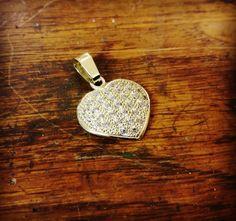 Prívesok zo žltého zlata so zirkónmi. Láska na prvý pohľad. ❤ #vysperkujtesa #sperknadnesnyden #zlato #sperky #laska #❤ #zirkon #gold #jewerly #instajewelry #love Dog Tags, Dog Tag Necklace, Personalized Items, Instagram, Jewelry, Jewlery, Jewerly, Schmuck, Jewels