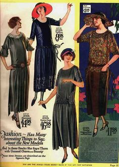 Love the paisley dress (with matching hat) on the right. vintage #fashion #1920s #dress