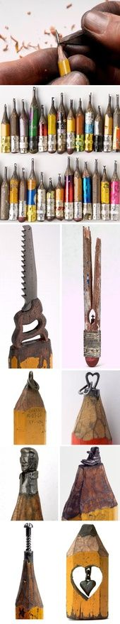 http://may3377.blogspot.com - Exquisite sculptures carved in pencils by Dalton Ghetti.