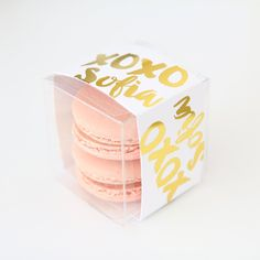 Personalized Gold XOXO Brush Script Favor Box - Sweet Paper Shop