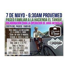 @Regrann from @janiamendoza -  Estamos invitando para este paseo familiar desde Provemed-Av.Bolivar hasta Hacienda el tanque  en el Valle de Pedrogonzalez .  Tendremos escolta- refrigerios- visita guiada por las instalaciones de la hacienda- transporte de regreso.  Será el sábado 7 de Mayo.  Si no tienes bicicleta. Nos puedes acompañar en carro y así aprovechas de conocer esa JOYA de hacienda ... Los esperamos !!! #Regrann
