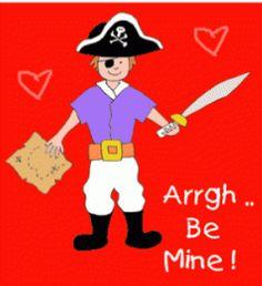 Freebies including Pirate Valentine Printables