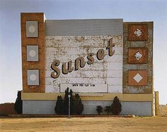 sunset drive-in, amarillo, texas, 1974 • stephen shore