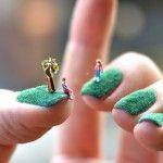 Miniature Landscape Nail Art | Inspired!