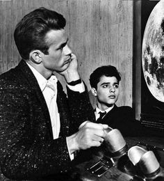 James Dean the Giant and Sal Mineo at the Griffith Observatory