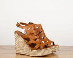 Leather spadrilles heels by Rebecca Minkoff Cuñas de esparto