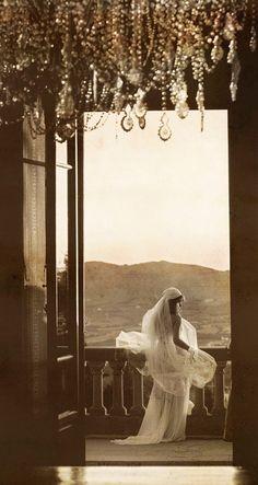 my idea wedding photo! sepia, balcony, back-shot, glamor, LOVE IT