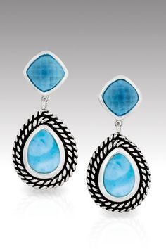 Larimarket - MarahLago Reina Collection Larimar Earrings with Blue Topaz, $300.00 (http://www.larimarket.com/marahlago-reina-collection-larimar-earrings-with-blue-topaz/)