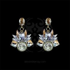 Anton Heunis 'Alexis' Geometric Cluster Crystal Earrings (ALX3.15)   Alexandra May Jewellery