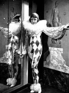"★ Harlequin costume 1933 worn by Claudette Colbert in ""Tonight is Ours"""