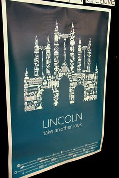 Our large Lincoln Cathedral poster design on display at the Greater Lincoln competition earlier this year.
