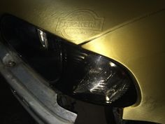 Steve's e46 wrapped in gold aluminium brush