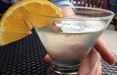The Paris Martini at Lucia's. No proportions given. Gin (sapphire), St. Germain, orange bitters.