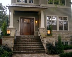 Hardie Plank, This is Hardie Board siding in Monterey Grey or Monterey Taupe the trim is sailcolth white.: