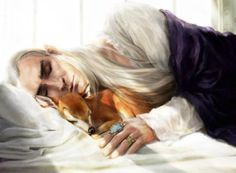 I wanna be that baby deer and he can call me Bambi, or babe... or whatever he pleases thb Sleeping Thranduil is beyond cuteness