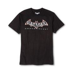 Men's Batman Arkham Knight Tee Black ($13) ❤ liked on Polyvore featuring men's fashion, men's clothing, black, men's apparel and mens clothing