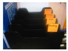 Classroom organization - different places that are MUST HAVES in a high school classroom