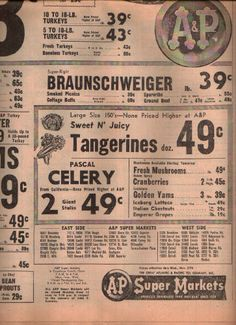 A&P ad 11/25/1963