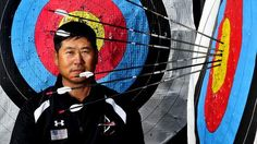 USA archery coach Kisik Lee.