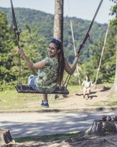 "80 aprecieri, 1 comentarii - Bianca.Teodorescu (@bianca.teodorescu) pe Instagram: ""#castelulcantacuzinobusteni #summerthrowback #trip #swing #forest #mountains #carpathiangram…"" Mountain S, Passion, Poses, Portrait, Instagram, Photography, Style, Swag, Photograph"