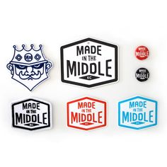 Made in the Middle Swag Logo Branding, Logos, Typography, Lettering, The Middle, Swag, Badges, Creative, Identity