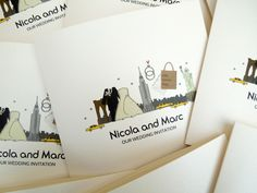 New York Classic Wedding Invite