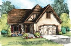 European Cottage with Expansion Possibilities - 42344DB | 1st Floor Master Suite, Butler Walk-in Pantry, CAD Available, Cottage, European, Media-Game-Home Theater, PDF, Split Bedrooms, Tudor | Architectural Designs