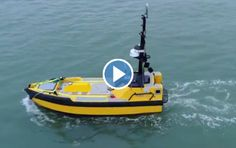 An autonomous work boat, C-Worker 7, has become the first ever unmanned vessel to fly the UK flag