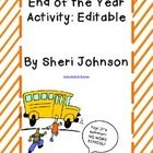 Have your students leave advice and tips for your class next year with this end of year activity. The text in this document is editable so feel fre...