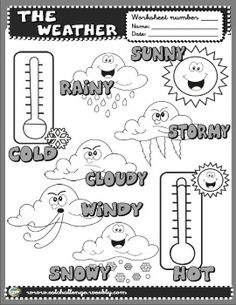 Weather picture dictionary English Teaching Materials, English Teaching Resources, English Activities, English Fun, English Lessons, Learn English, School Age Activities, Earth Science Activities, Ingles Kids