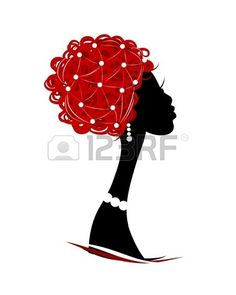Female head silhouette for your design photo