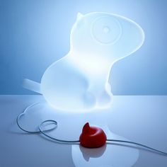 Just a glowing bull terrier lamp. Step on the poop to turn it on and off. What more do you need? -D