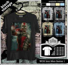 Kaos desain Iron Man dengan 5 warna keren dari Ocean Seven