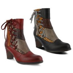 Side-Lace Tri-Panel Boots