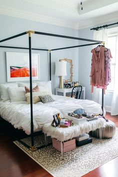 bedroom inspirations How I was able to create a space for positivity and productivity in our master bedroom using 5 tips to consider when looking for home decor inspiration. Dream Rooms, Dream Bedroom, Master Bedroom, Canopy Bedroom, Canopy Beds, Pretty Bedroom, Decoration Bedroom, Home Decor Bedroom, Bedroom Ideas