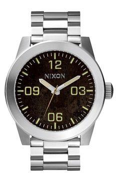 Men's Nixon 'The Corporal' Bracelet Watch