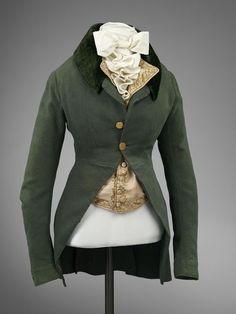1790's Riding habit jacket, VA Museum, London